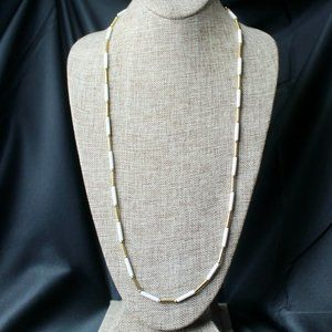 Vintage Monet Gold and White Necklace